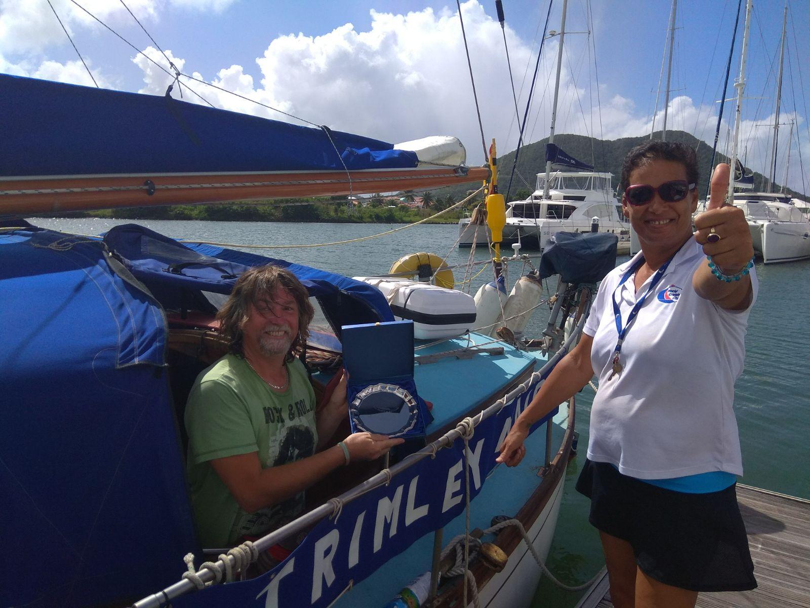 WCC's Peta Cozier with Trimley Maid