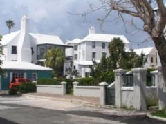 Typical buildings in Bermuda