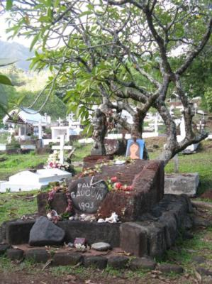 Gauguin's grave on Hiva Oa