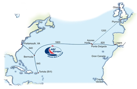 Sail From Caribbean Or USA To Europe