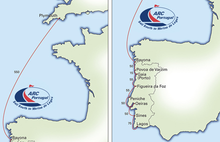 World Cruising Club - Portugal map south